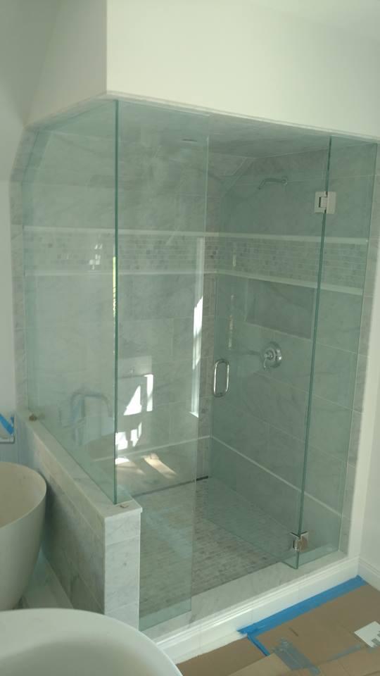 Luxury Shower Door Rails Vignette Custom Bathtubs