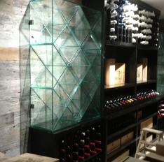 Glass Unlimited Custom Glass Rack needing wine.