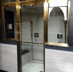 Glass Unlimited Solid brass framed Shower Enclosure with true divided light